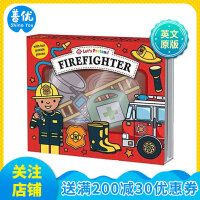 【预订】Firefighter 消防员 英文原版 0-3-6岁低幼儿童启蒙游戏读物