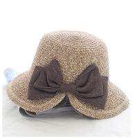 韩国儿童帽子夏天遮阳帽女童沙滩帽儿童草帽宝宝防晒凉帽亲子