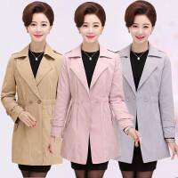 中老年女装春秋风衣外套中长款韩版中年妈妈装秋装外套40-50岁女