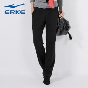 【2件8折-满199减30】鸿星尔克(ERKE)舒适耐磨运动综训女针织长裤12214157028