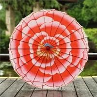 油纸伞茉莉花开牡丹节日舞蹈伞工艺伞演出道具装饰伞绸布伞 半穿 82cm