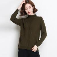 冬季新品纯色高领女式羊毛衫 百搭修身高领羊毛针织毛衣打底衫