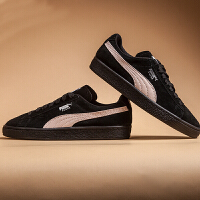 【网易考拉】PUMA 彪马 SUEDE Classic 黑粉女鞋运动休闲鞋板鞋 355462-66