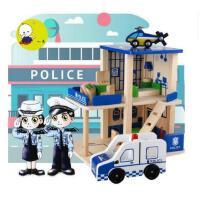 一点儿童过家家角色扮演仿真DIY小屋警察局 消防局木制玩具