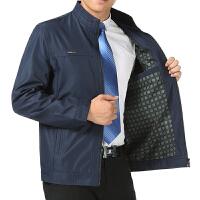 秋季中老年男装大码宽松男士夹克薄款休闲立领外套爸爸装外衣秋装