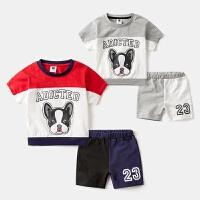男童套装2夏季卡通3短袖短裤两件套纯棉4男宝宝休闲5岁儿童运动装