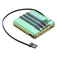 充电宝50000毫安自带线适用华为苹果超薄小巧便携1000000超大量kb6