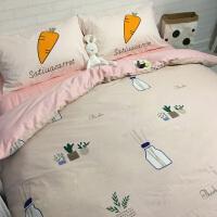家纺床上用品1.2米三件套1.8m床单被套床笠款单双人全棉纯棉四件套