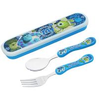 冰雪奇缘儿童餐具 进口筷勺套装不锈钢筷子勺子便捷可爱餐具带盒