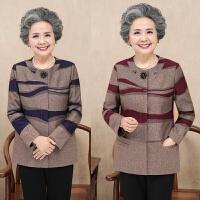 中老年人秋装女装60-70岁奶奶装秋季上衣大码妈妈装秋冬薄外套