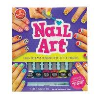 英文原版 指甲彩绘艺术 儿童手工书 含无毒可撕指甲油 Nail Art: Over 35 Easy Designs f