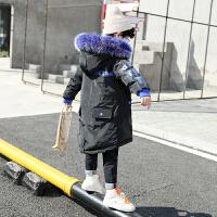 儿童冬季2018新款韩版棉袄厚款男孩中长款外套