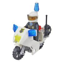 儿童塑料拼装玩具男孩礼物早教益智拼插积木军事模型公安摩托