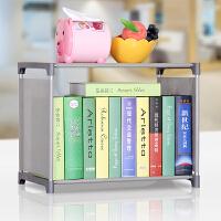 蜗家 书架 简易书柜 储物柜柜子防尘书架书柜收纳柜 多功能层架书架sj02 灰色