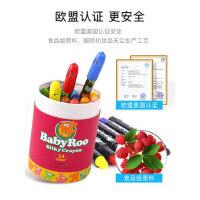 美乐蜡笔24色36色儿童安全无毒可水洗幼儿园婴儿宝宝旋转画笔套装