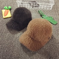 女童帽子冬季鸭舌帽毛绒棒球帽儿童帽子保暖宝宝帽子韩版潮棒球帽