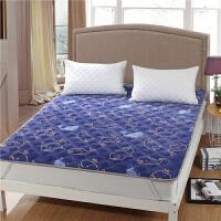 冬季加绒加厚珊瑚绒毯子夹棉单人法兰绒毛毯床单单件双人铺床垫毯