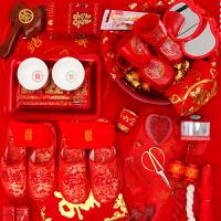 结婚用品套装新娘陪嫁 婚庆创意红盆女方嫁妆用品红脸盆镜子套装