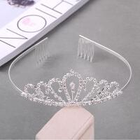 韩国儿童皇冠发箍可爱公主头饰水钻头箍小女孩王冠发卡女童发饰品 竖心带梳 皇冠