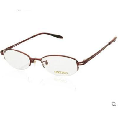 小巧精致眼镜学生百搭镜框纯钛材质可配近视镜半框近视眼镜架 品质保证,支持货到付款 ,售后无忧