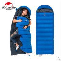 家用露营睡袋成人户外信封式羽绒睡袋保暖鸭绒隔脏睡袋互拼双人单人