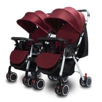 超轻便双胞胎婴儿推车可拆分组合式可坐躺可折叠四轮推车BB车g3d