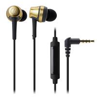 铁三角(Audio-technica)ATH-CKR50IS 线控带麦入耳式HIFI耳机 金色