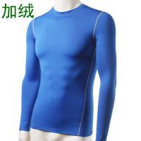 冬装 加绒男子紧身训练 运动健身长袖T恤 长袖衫保暖内衣