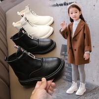 女童靴子儿童马丁靴棉鞋秋冬加绒短靴冬季鞋子