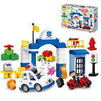 儿童玩具3-6周岁男孩子女孩益智力拼图积木城市警察