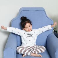 女童珊瑚绒睡衣秋冬款儿童家居服套装保暖公主