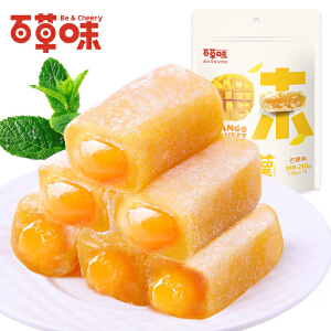 【百草味_香芒蜜语麻薯】休闲零食 210gx2袋 台式风味特产 芒果馅糕点