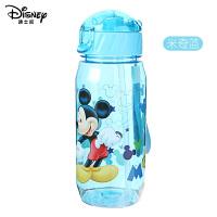迪士尼儿童水杯宝宝带吸管杯小孩女童幼儿园喝水杯子塑料直饮杯夏