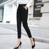 九分裤潮流休闲纯色时尚气质清纯甜美优雅口袋2017年秋季裤子