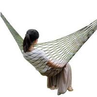 户外吊床 休闲尼龙网格吊床 网状吊床荡秋千睡觉网 送绑绳