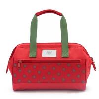 妈咪包手提斜跨小号韩版波点妈妈包小拎包时尚母婴外出包妈咪袋 红色