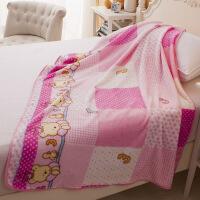 新生婴儿毛毯春夏单层薄款儿童宝宝小毯子幼儿园小被子珊瑚绒盖毯