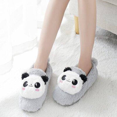 冬天棉拖鞋女包跟厚底冬季韩版可爱居家毛毛绒月子鞋室内情侣拖鞋