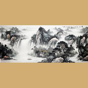 中国书画家协会会员 著名书画家孙金库先生作品――归舟