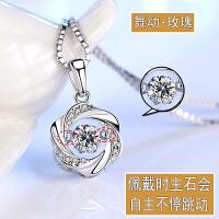 925纯银项链女锁骨颈链简约学生韩版森系吊坠饰品生日礼物送女友