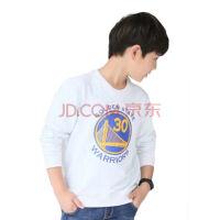 运动休闲时尚卫衣长袖儿童球衣勇士队30号库里篮球T恤