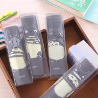 韩版可爱龙猫卷卷PU学生笔袋 PVC精装文具袋