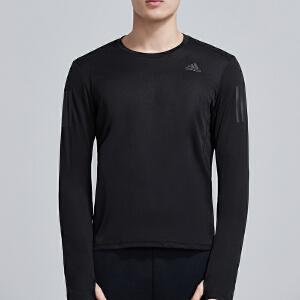 adidas阿迪达斯男服长袖T恤2019新款圆领紧身跑步训练运动服DQ2576