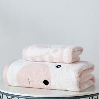 浴巾纯棉成人柔软加大加厚吸水速干家用男女可爱韩版毛巾套装