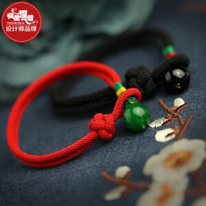 凤凰涅磐红绳手链情侣男女一对玛瑙民族风简约复古生日礼物本命年