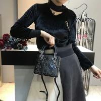 戴妃女包包2018新款经典定型亮皮漆皮手提包时尚潮链条单肩斜跨包