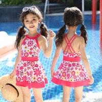 儿童泳衣女游泳衣连体公主裙式宝宝泳衣可爱女童泳衣幼儿中大童INS