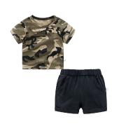 男童夏装短裤子套装婴儿短袖t恤1岁6个月5宝宝衣服