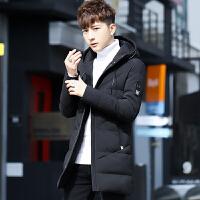 男士外套冬季棉袄2017新款韩版修身帅气羽绒棉服中长款潮流棉衣男