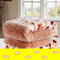 【支持礼品卡】双层加厚毛毯双人保暖盖毯学生宿舍单人绒毯子冬季毛毯被子拉舍尔y6p